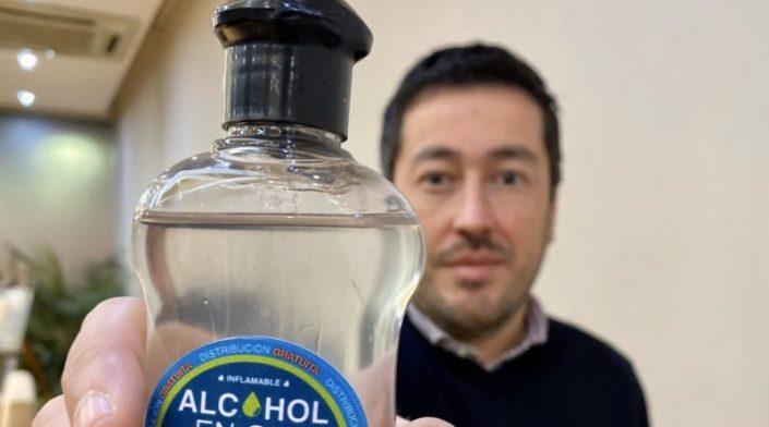 1 alcohol en gel